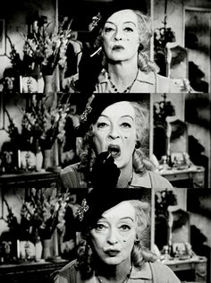 Whatever Happened To Baby Jane - incredible psychodrama. Shocking, creepy and tense. Bette Davis is fantastically unhinged