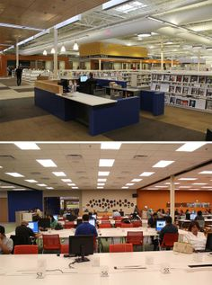 The McAllen Public Library, built inside a 124,500 square foot abandoned Walmart in McAllen, Texas.