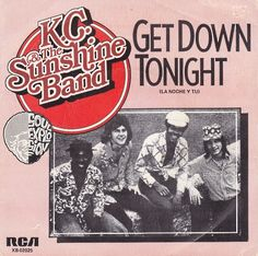 August 1975 - KC and the Sunshine Band went to on the US singles chart with, 'Get Down Tonight', the group's first of five Down Band, 1970s Music, The Boogie, Vinyl Cover, Rock Legends, Music Albums, Kinds Of Music, My Favorite Music, Album Covers