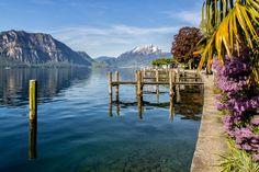 Weggis, Lake Lucerne, Switzerland.