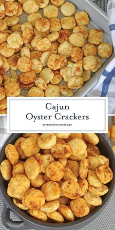 Super EASY Cajun Oyster Crackers Recipe - Only 3 Ingredients!