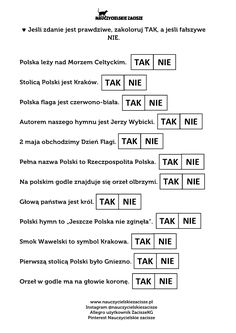 Polska święta majowe Kodowanie Karty pracy Nauczycielskie zacisze Polish Language, School Subjects, Your Teacher, Google Classroom, Kindergarten Math, Pre School, Worksheets, Homeschool, Lettering