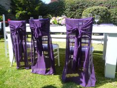 purple chiffon long cap