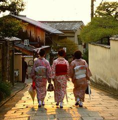 Japanese Kimono from Behind (Kyoto, Japan)