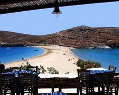 Kythnos, Kolona double beach, Greece