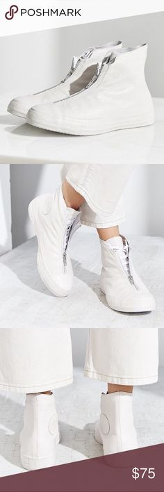 1 HOUR SALE! CONVERSE SHROUD WHITE LEATHER SHOES Ships same day or very next. Womens. price is firm. 100% authentic Converse Shoes Sneakers