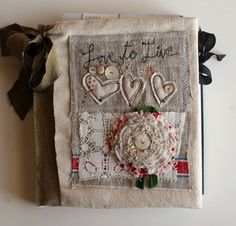 rebecca sower. Beautiful! Don't know where to PIN though. Journals, sewing, crafty, ugh. Going with crafty.