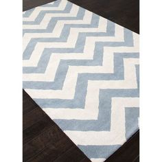 JaipurLiving Traverse Milky Blue Chevron Area Rug Rug Size:
