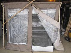 Super Shelter with wood burning stove inside!