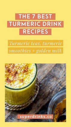 The 7 Best Turmeric Drink Recipes: Turmeric Teas, Smoothies + Golden Milk — Superdrinks. Here is our selection of the 7 best turmeric drinks to drink daily, including recipes for turmeric tea, turmeric smoothies and traditional golden milk. Turmeric Drink, Turmeric Smoothie, Turmeric Recipes, Fresh Turmeric, Turmeric Root, Health Drinks Recipes, Milk Recipes, Juice Recipes, Best Nutrition Food