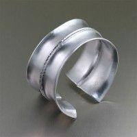 Brushed Fold Formed Aluminum #Anticlastic #Cuff. Sleek and sensual   http://www.johnsbrana.com/brushed-fold-formed-aluminum-anticlastic-cuff.html  $165.00
