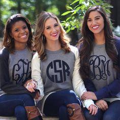 Monogrammed Raglan Sweatshirt Tunic | Marleylilly.com