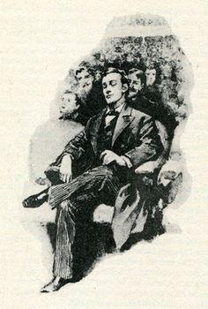 Sherlock Holmes illustration by Sidney Paget.     Sherlock at a concert