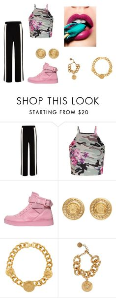 """""""M 60"""" by fadiamanzur on Polyvore featuring moda, River Island, New Look, Moschino y Versace"""