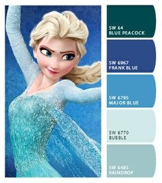 Colors for Alyssa's bedroom from the Frozen movie