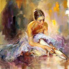 Reminiscence by Anna Razumovskaya - Figurative: Oil Painting*Inspiración ilusión vida belleza del color* Pasión sonidos movimientos que transportan al universo ❤❤