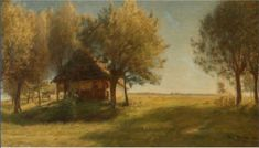 Aftensol by Julius Paulsen. Medium: Oil on canvas. Lot was auctioned Oct 2010 at Auction Havnen, Copenhagen, Denmark Oil On Canvas, Canvas Size, Auction, Fine Art, Danish, Painting, Artists, Painted Canvas, Danish Pastries