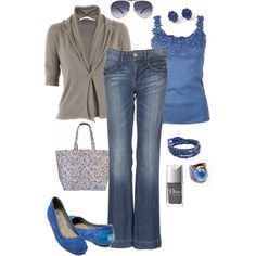 OMG this is so much more me!   No skinny jeans, no insanely high boots or heals, and great color with a casual jacket!   Love it!