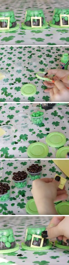 M&Ms Treat Pots | Click Pic for 23 Easy St Patricks Day Party Treats for Kids | Easy Birthday Treats to Take to School