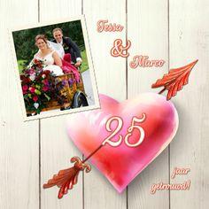 Uitnodiging huwelijksfeest hart - Uitnodigingen - Kaartje2go - ©OTTI & Lorie Davison