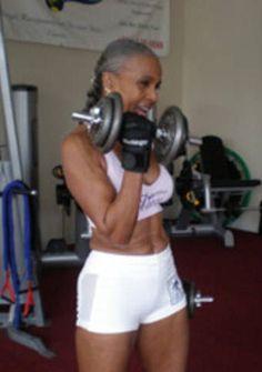 Ernestine Shepherd, in her late 70s!!
