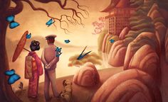 benjamin lacombe madame butterfly - Buscar con Google