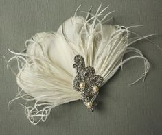 Items similar to Bridal fascinator, Wedding Feather Fascinator, Ivory Feather Fascinator, Feather Hair Clip - CORA on Etsy Floral Fascinators, Bridal Fascinator, Wedding Fascinators, Bridal Hair, Bridal Headpieces, The Bling Ring, Vintage Headbands, Feather Hair Clips, Fancy Hats