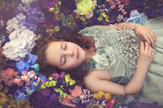 Sleeping beauty photography. Fairytale photography. Children photography. Natural light photography. Fine art children photography. Melbourne family photography.