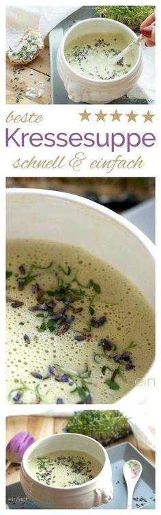 Beste Kressesuppe schnell und einfach kochen mit Thermomix oder ohne. Als Kresseschaumsuppe oder Kressecremesuppe herrlich wärmend für Körper und Seele. Gesunde Suppe zum Abnehmen: https://einfachstephie.de/beste-kressesuppe-schnell-und-einfach/ #suppe #vegan #thermomixrezepte