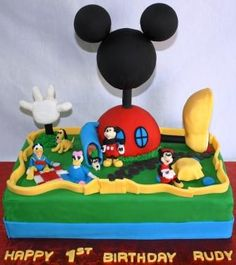Super Cute First Birthday Cakes - So making this for Carson's 2nd Birthday - He LOVES Mickey Mouse Club House