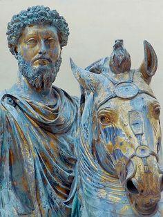 Equestrian Statue of Roman Emperor Marcus Aurelius Roman 176 CE Bronze