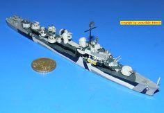 """amerik. Zerstörer der Allen M.Sumner-Klasse DD-692 USS """"Allen M.Sumner"""" (Albatros 1001) 1:700"""