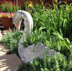 1000 images about concrete swans on pinterest swans link and planters - Concrete swan planter ...