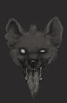 Grinning hyena (fiszike (DeviantART, 2009)