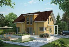 Evolution 122 V7 - Bien Zenker - http://www.hausbaudirekt.de/haus/evolution-122-v7/ - Fertighaus als Einfamilienhaus Modernes Haus Stadthaus mit Satteldach