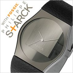 FOSSIL DESIGN BY PHILIPPE STARCK WATCH [TRANSPARENT ANALOG BLACK]