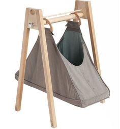 Modern moses basket for a swinging babe.