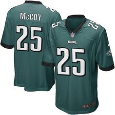 Mens Nike Philadelphia Eagles #25 LeSean McCoy Game Team Color Green Jersey$79.99