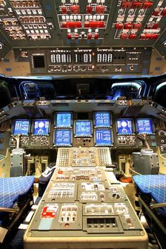 Flight Deck of the Space Shuttle Endeavour.......Mike Deep..........Tumblr