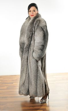 CRYSTAL SILBER FUCHS Pelz Mantel Silver FOX fur coat volpe Pelliccia renard лиса in Clothes, Shoes & Accessories, Women's Clothing, Coats & Jackets | eBay
