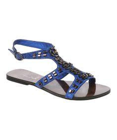 Passions Footwear Blue Jade Gladiator Sandal