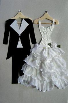 Tux and Bride Greeting Card by Debbie Woo of Woo Designs. #royalwedding