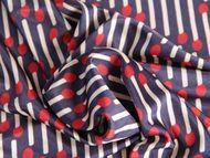 Italian viscose jersey dress fabric