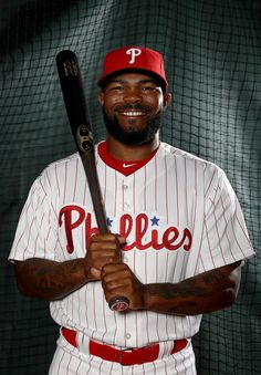 Howie Kendrick #47 of the Philadelphia Phillies poses for a portrait during the Philadelphia Phillies photo day on February 20, 2017 at Spectrum Field in Clearwater, Florida.