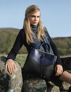 The new Mulberry Autumn Winter 2014 campaign starring Cara Delevingne, shot by Tim Walker.