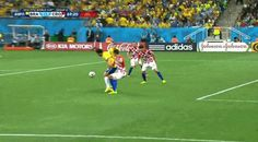 This flop from Brazilian striker Fred was rewarded with a penalty kick — that Brazil then scored to give them their first lead in a 3-1 win over Croatia. | This Is Why Americans Hate Soccer, Summed Up In One GIF