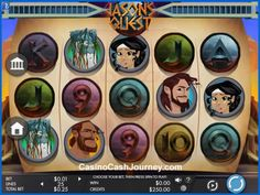 Jason's Quest is a Genesis Gaming powered 25-line video slot. Step into the shoes of a warrior to progress through the game's 3 mystical levels. Each level introduces new and enhanced bonuses, which you can enjoy from home and on the move without compromise. More this way...   http://www.casinocashjourney.com/blog/jasons-quest-slot-genesis/