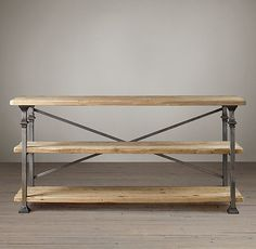 Salvage Baker's Console  48x18x30  $895, sale unsealed pine and iron