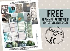 Free Printable Home Planner Stickers from Victoria Thatcher