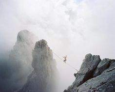 theartistathlete:  HIGHLINING ABOVE THE CLOUDS wild kaiser - AustriaPhotographer -www.maier-jantzen.de